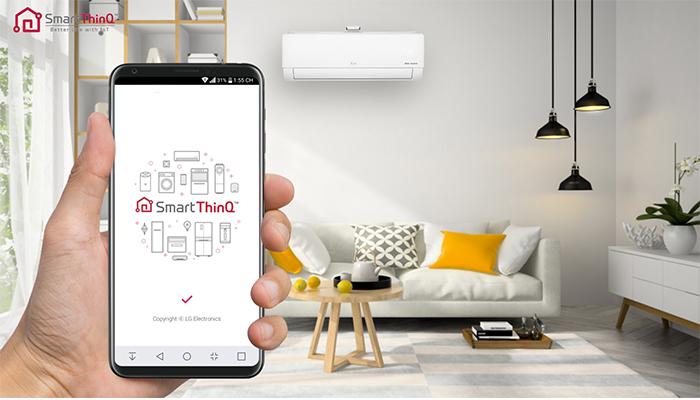 tính năng Smart Thin Q trên điện thoại của hãng LG